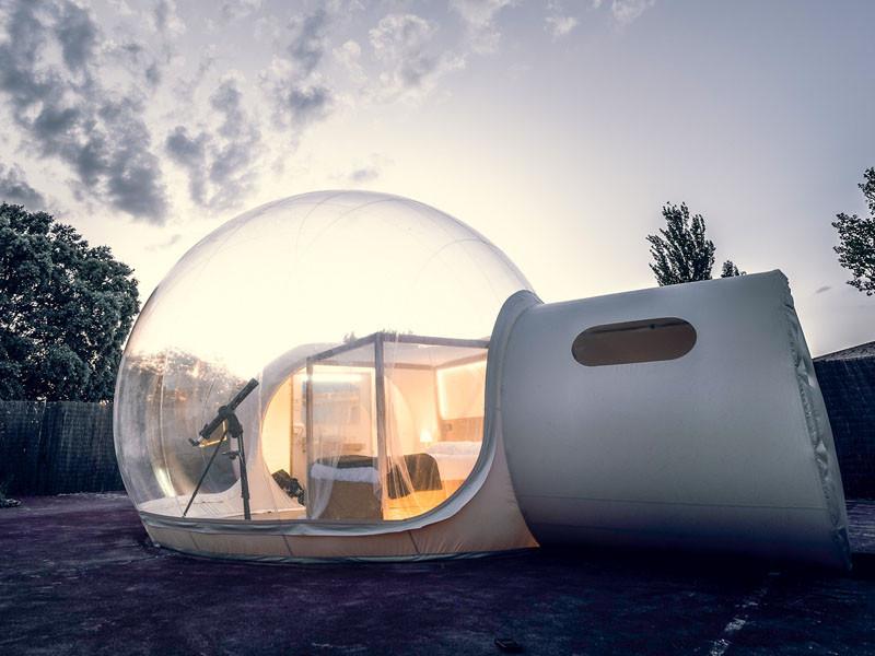 Aldebre Inmobiliaria | Sorteo 15 aniversario fotos hotel burbuja